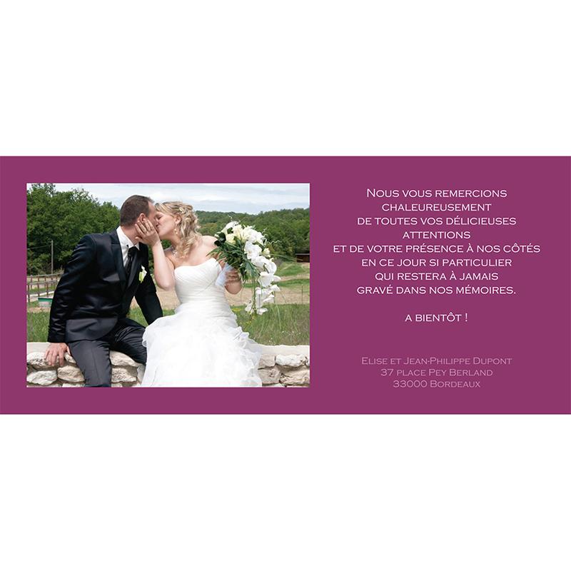 Carte de remerciement mariage Vendanges d'amour  gratuit