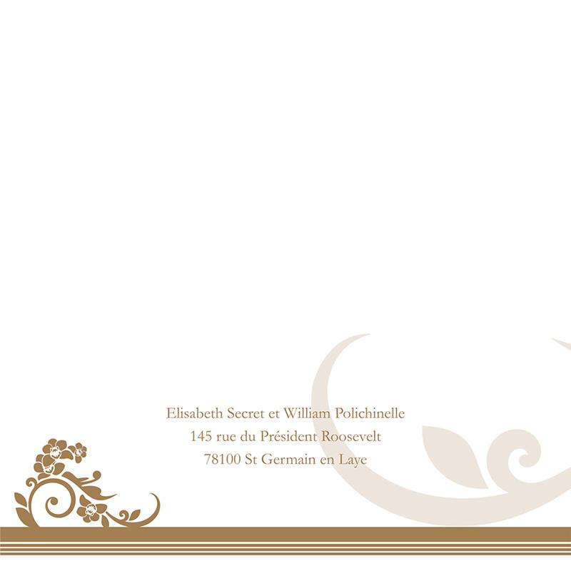 Faire-part de mariage Cérémonie doré gratuit