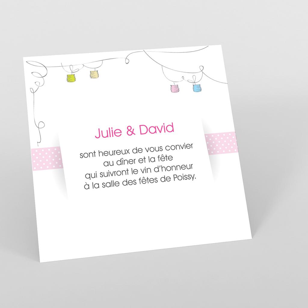 Carte d'invitation mariage Jour de fête