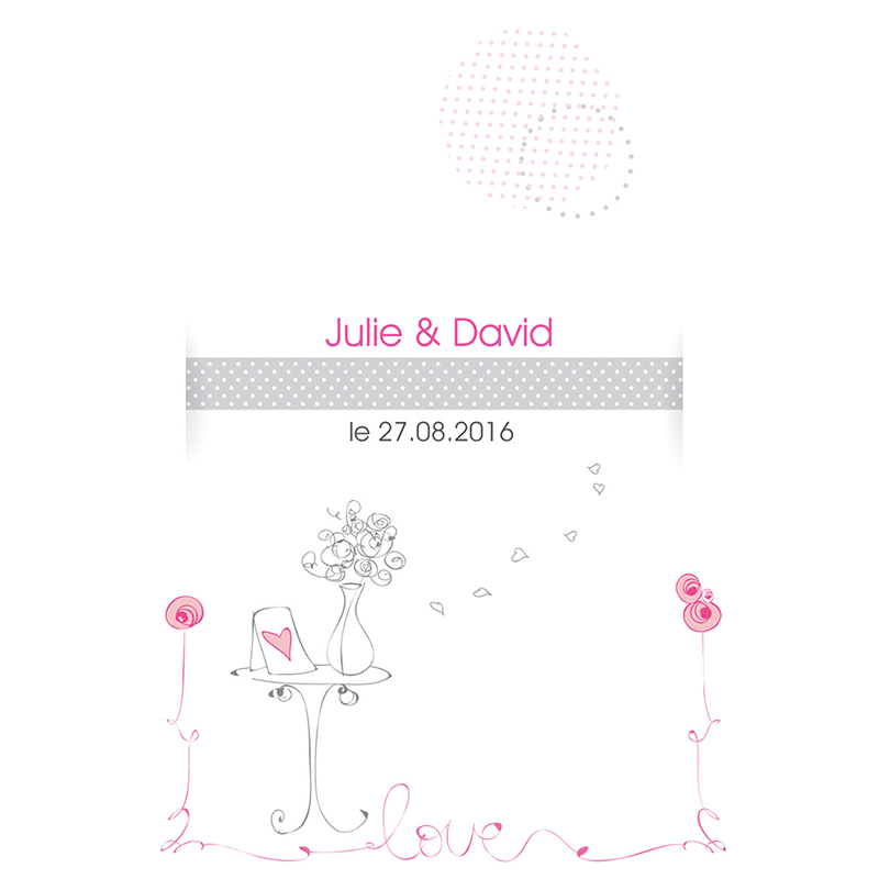Menu mariage Jour de fête