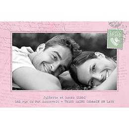 Carte de remerciement mariage Bohème  gratuit