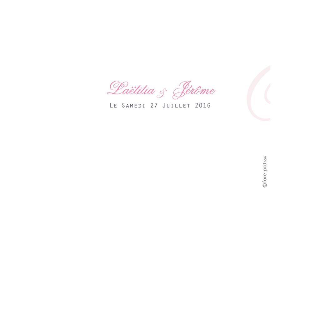 Menu mariage Paris violine