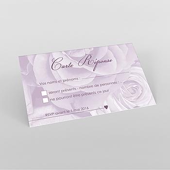 Carton réponse mariage Délicatesse