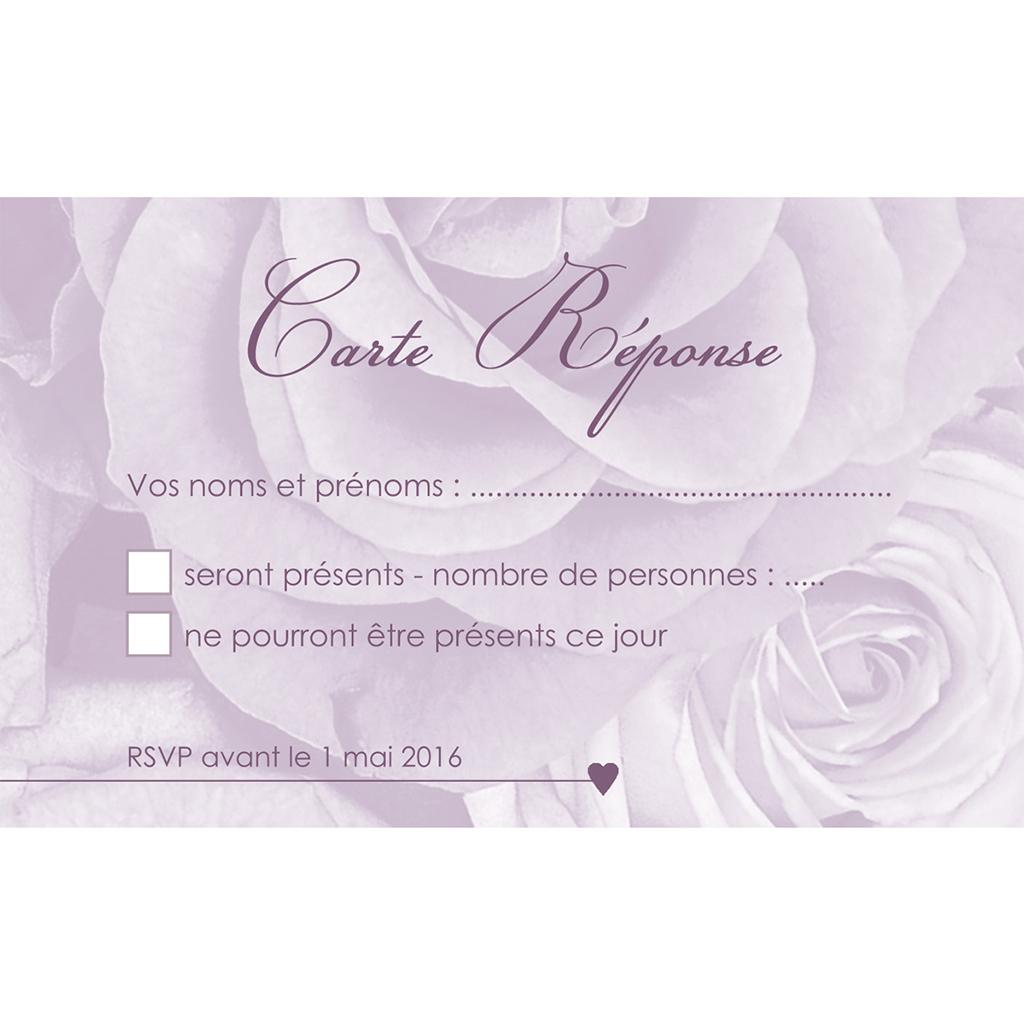 Carton réponse mariage Délicatesse  pas cher
