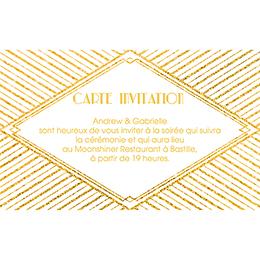 Carte d'invitation mariage Mariage années folles blanc pas cher