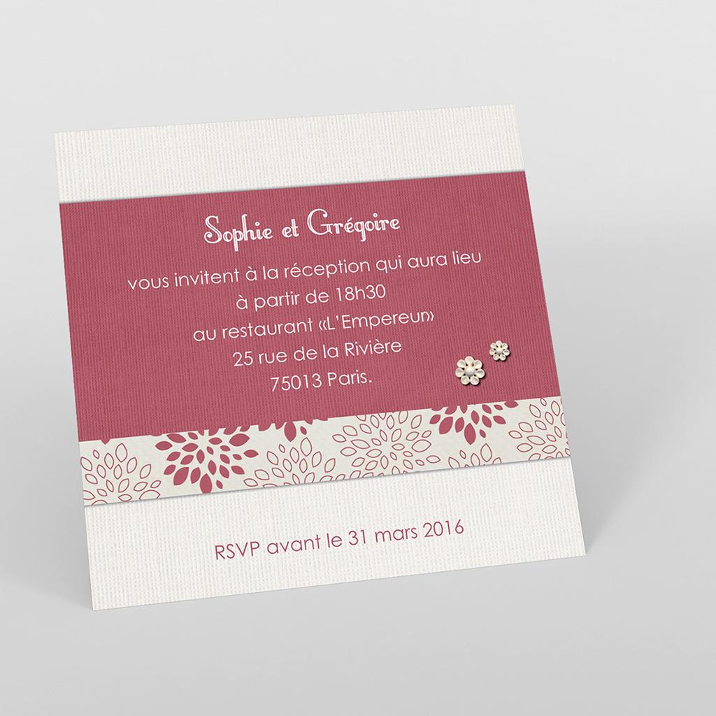 Carte d'invitation mariage Promesse