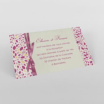 Carte d'invitation mariage Secrets