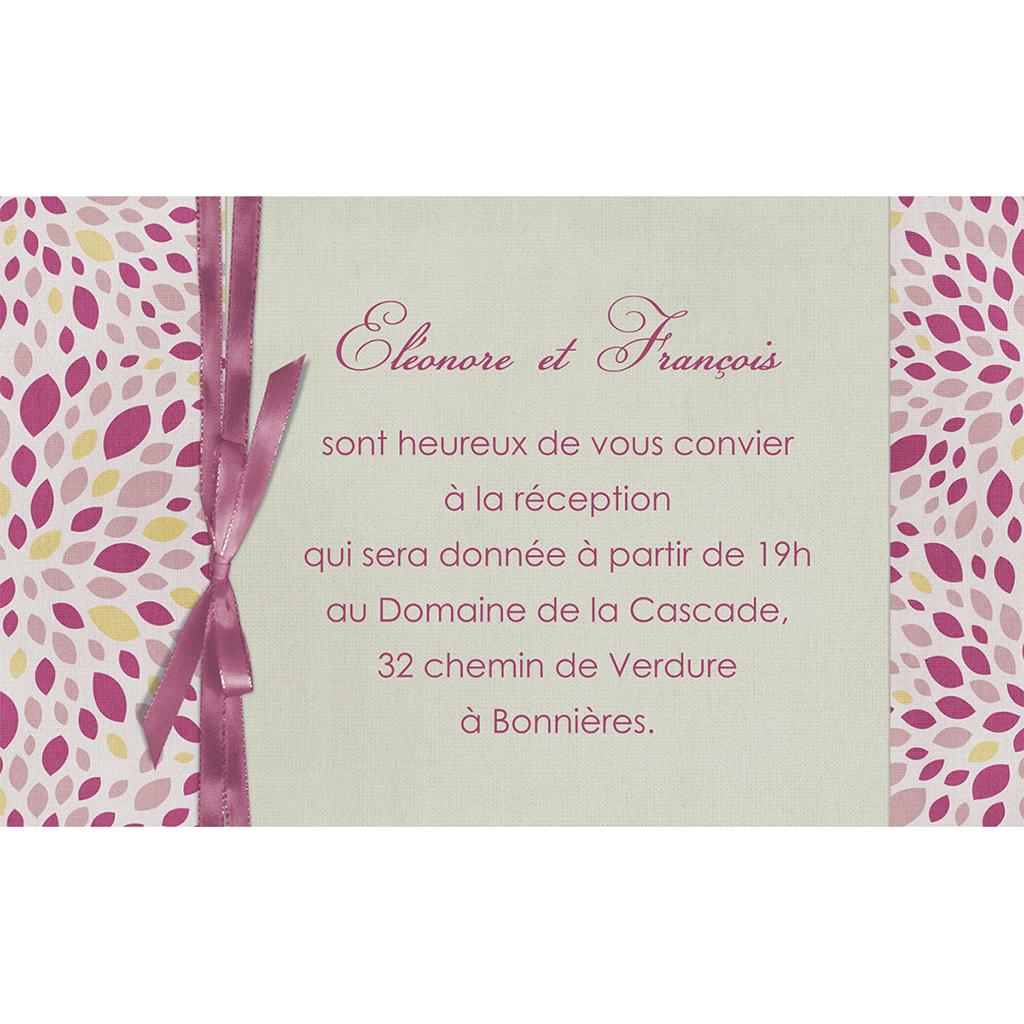 Carte d'invitation mariage Secrets  pas cher