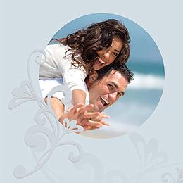 Faire-part de mariage Volutes  gratuit