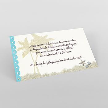 Carte d'invitation mariage Exotique