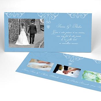 Carte de remerciement mariage Céleste