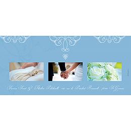 Carte de remerciement mariage Céleste  gratuit