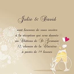 Carte d'invitation mariage Youpi 1 garçon pas cher