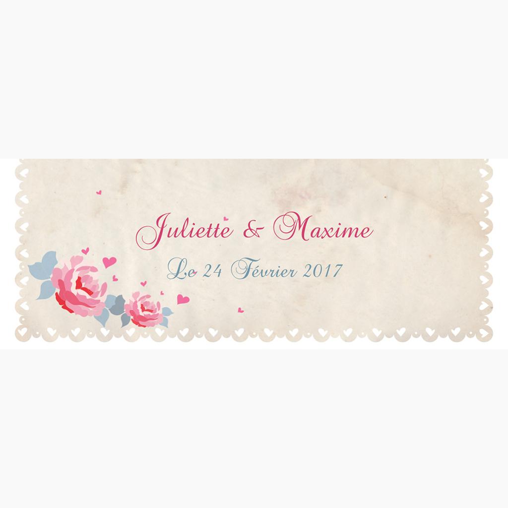 Marque-place mariage Nostalgie  pas cher