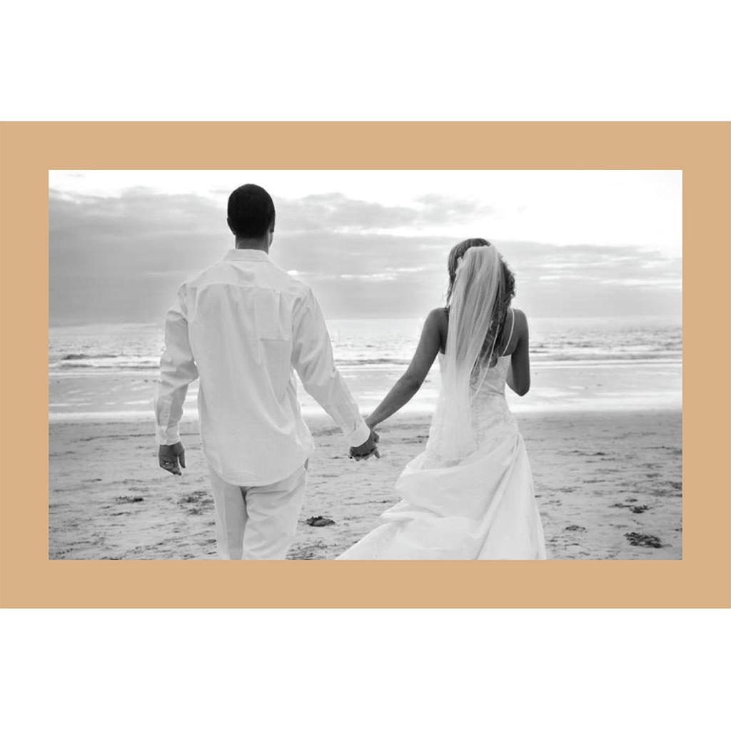 Carte de remerciement mariage Paul et Virginie  gratuit