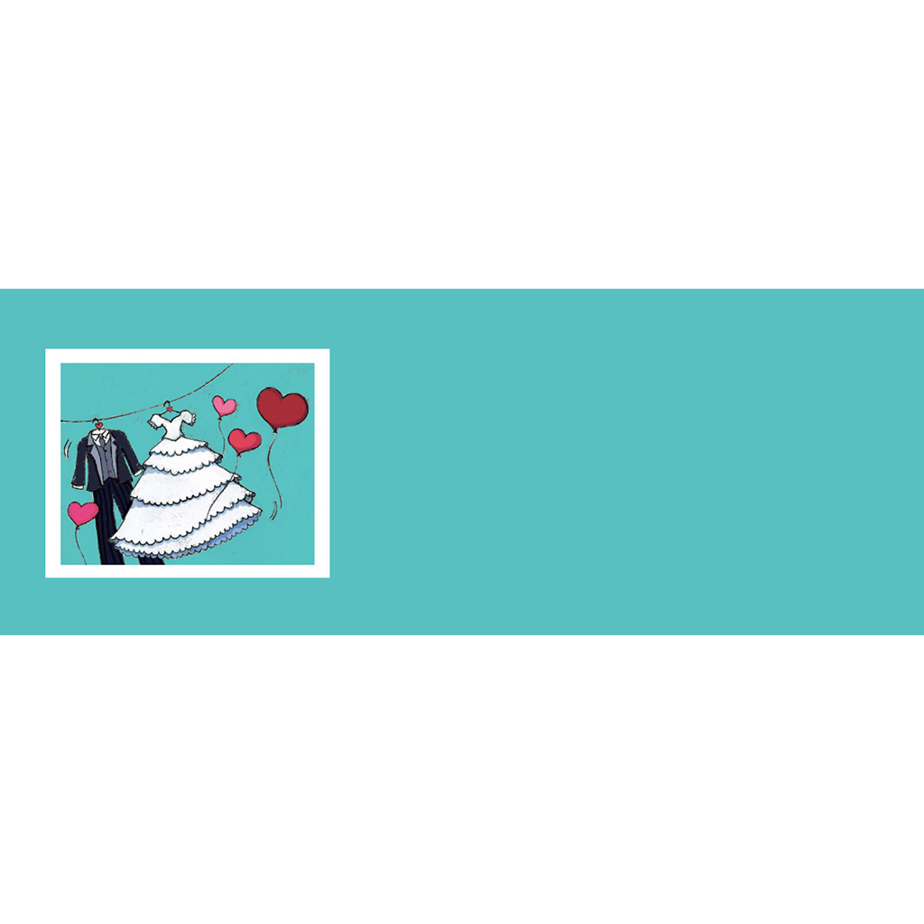 Marque-place mariage Union bleu gratuit