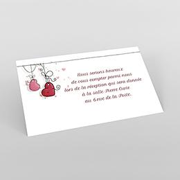 Carte d'invitation mariage Les Coeurs