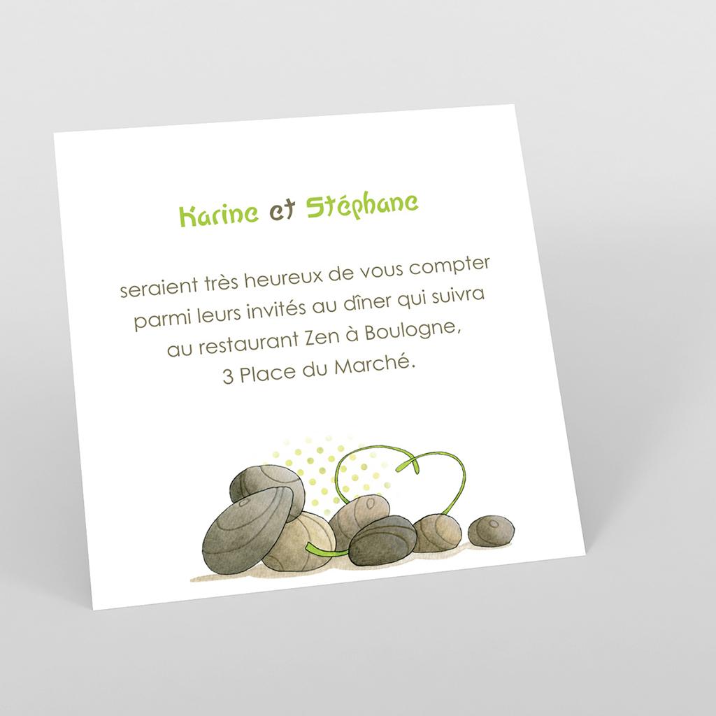 Carte d'invitation mariage Zen