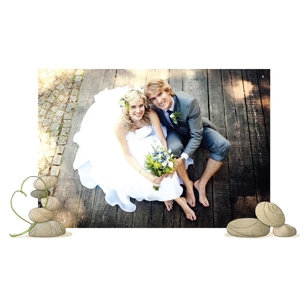 Carte de remerciement mariage Zen  gratuit
