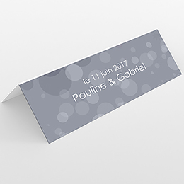 Marque-place mariage Bulles