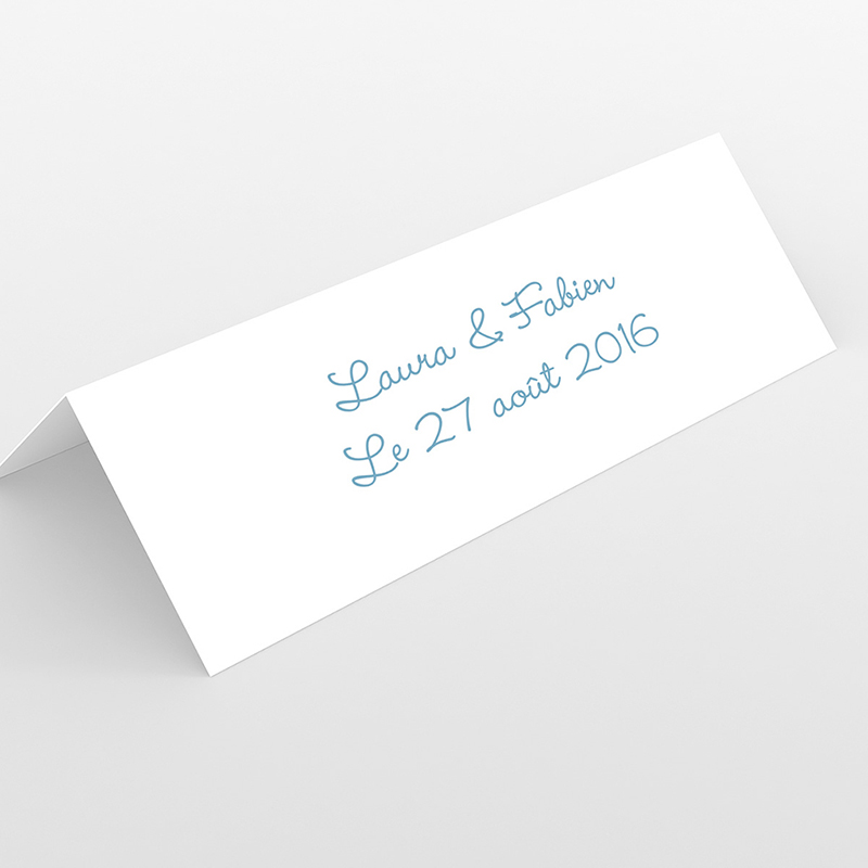 Marque-place mariage Idylle blanc