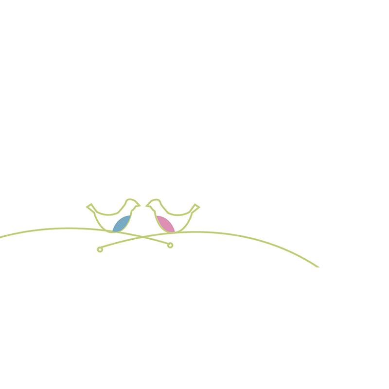 Marque-place mariage Idylle blanc gratuit
