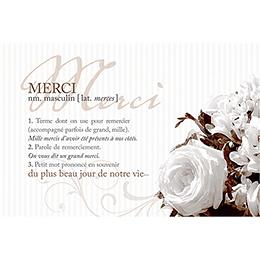 Carte de remerciement mariage Bouquet  pas cher