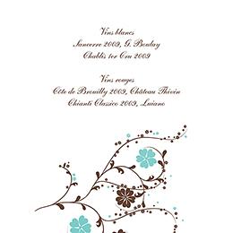Menu mariage Nuptial chocolat turquoise gratuit