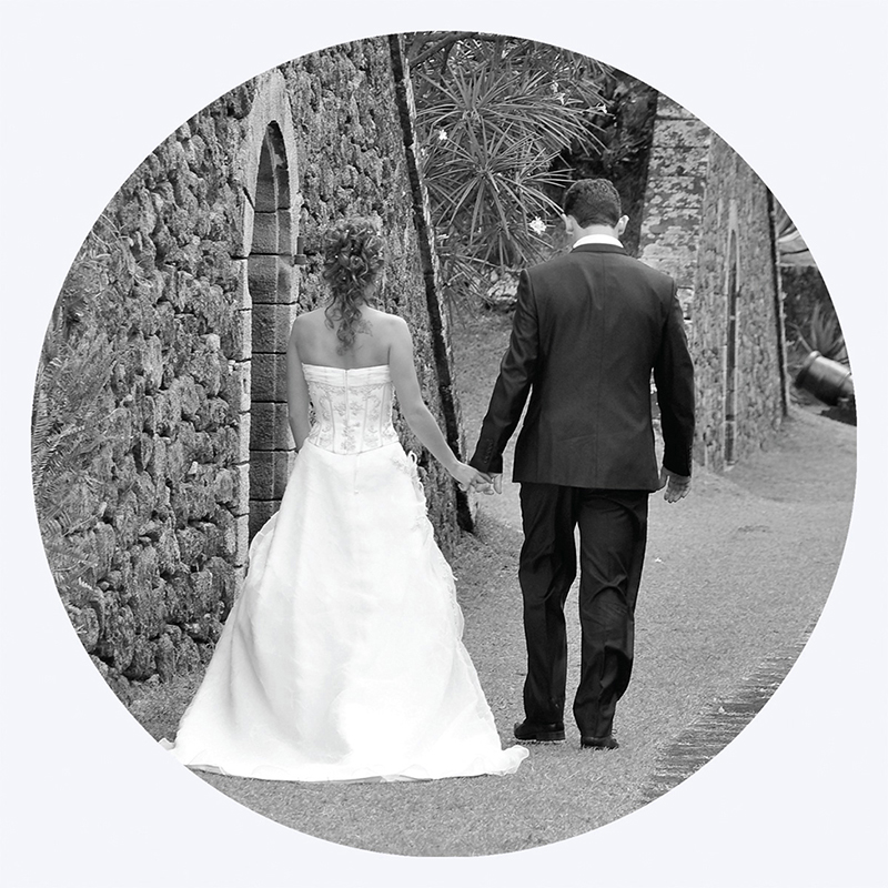 Carte de remerciement mariage Nuptial rond chocolat turquoise pas cher