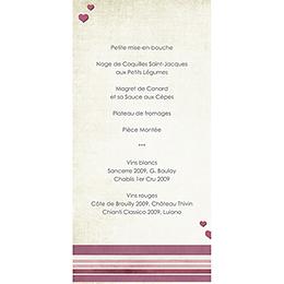 Menu mariage Scrap'rose  gratuit