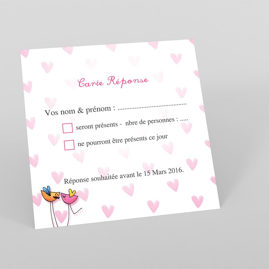 Carton réponse mariage Bol d'amour