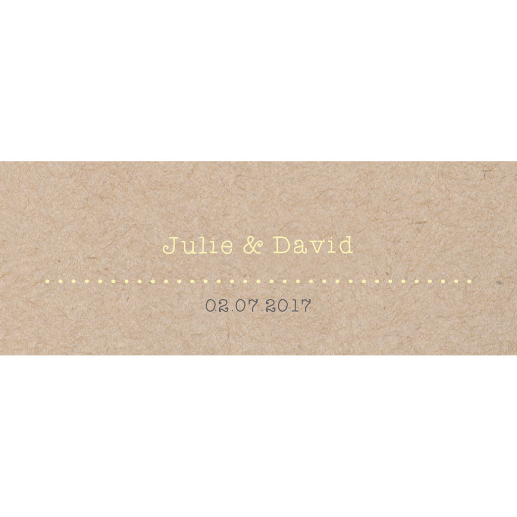 Marque-place mariage Pretty love story rond pas cher