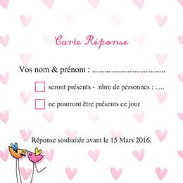 Carton réponse mariage Bol d'amour  pas cher