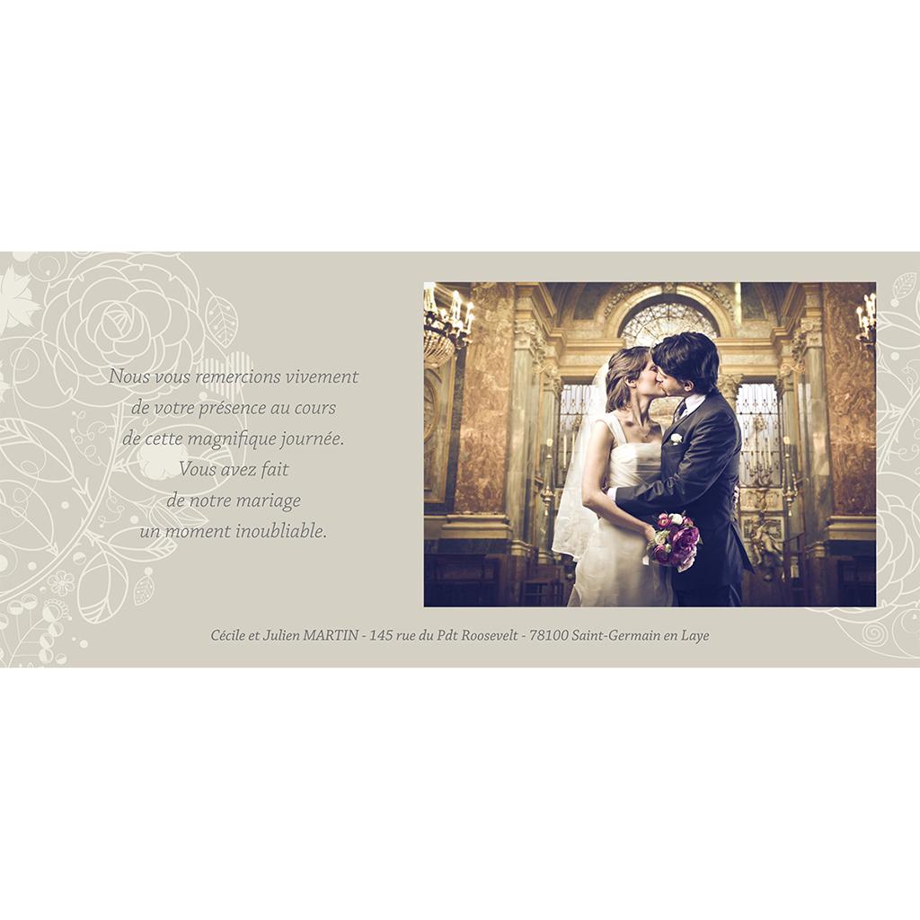 Carte de remerciement mariage Mariage ivoire  gratuit