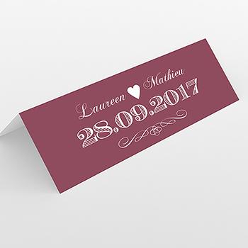 Marque-place mariage Wedding cake bordeaux