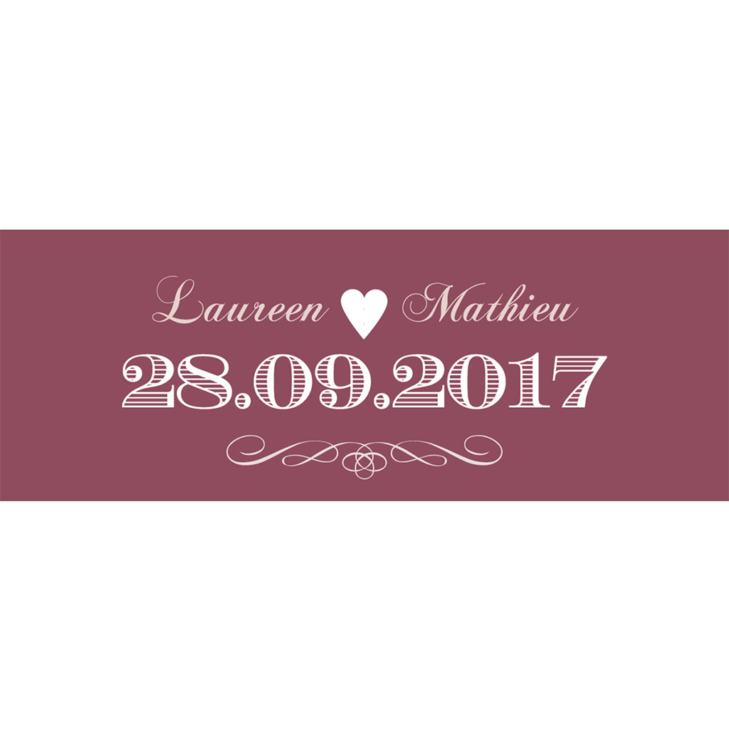 Marque-place mariage Wedding cake bordeaux pas cher