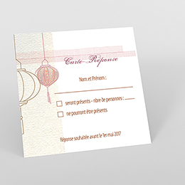 Carton réponse mariage Les lampions