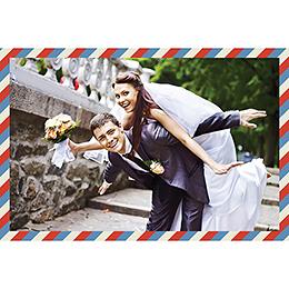 Carte de remerciement mariage Airlines  gratuit