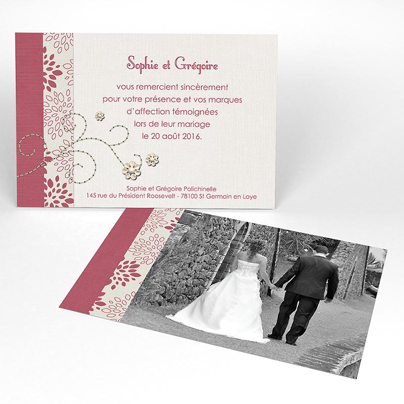 Carte de remerciement mariage Promesse