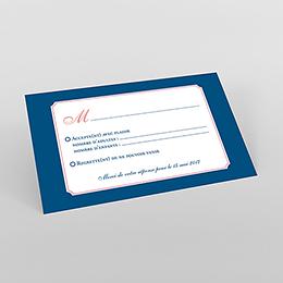 Carton réponse mariage Rose et Bleu