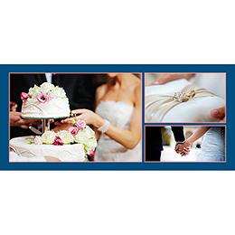 Carte de remerciement mariage Rose et Bleu gratuit