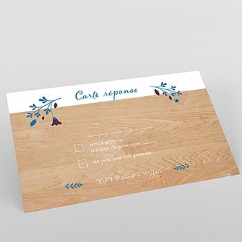Carton réponse mariage Bois Fleuri