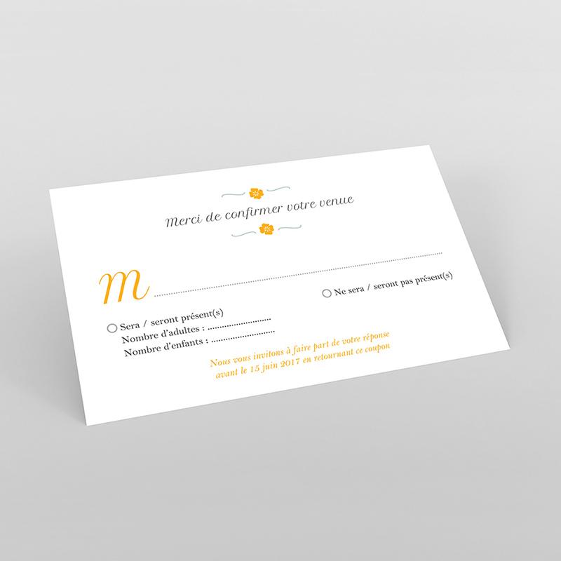 Carton réponse mariage Yellow Liberty