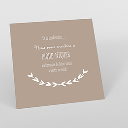 Carte d'invitation mariage Trendy
