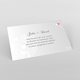 Carte d'invitation mariage Youpi gris panoramique