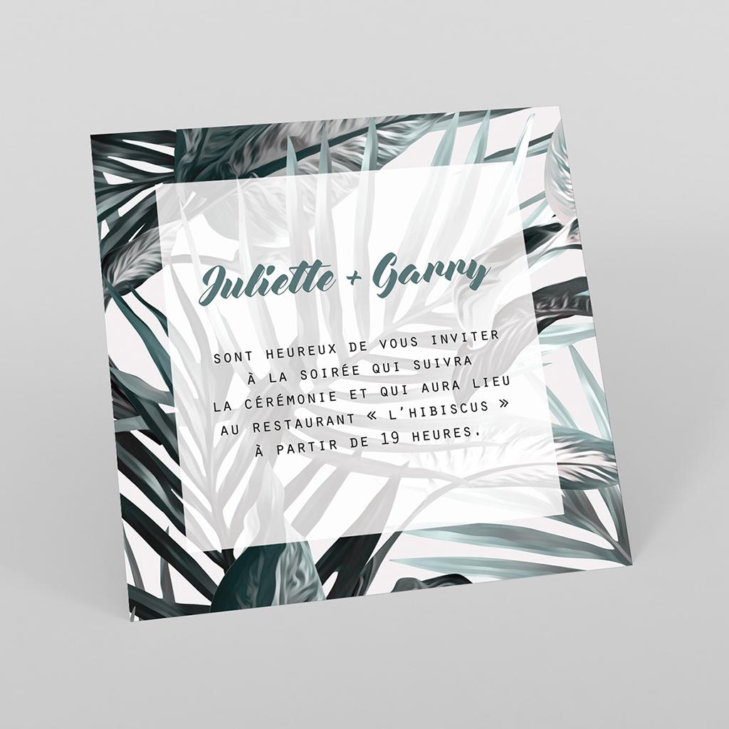 Carte d'invitation mariage Exotic Chic