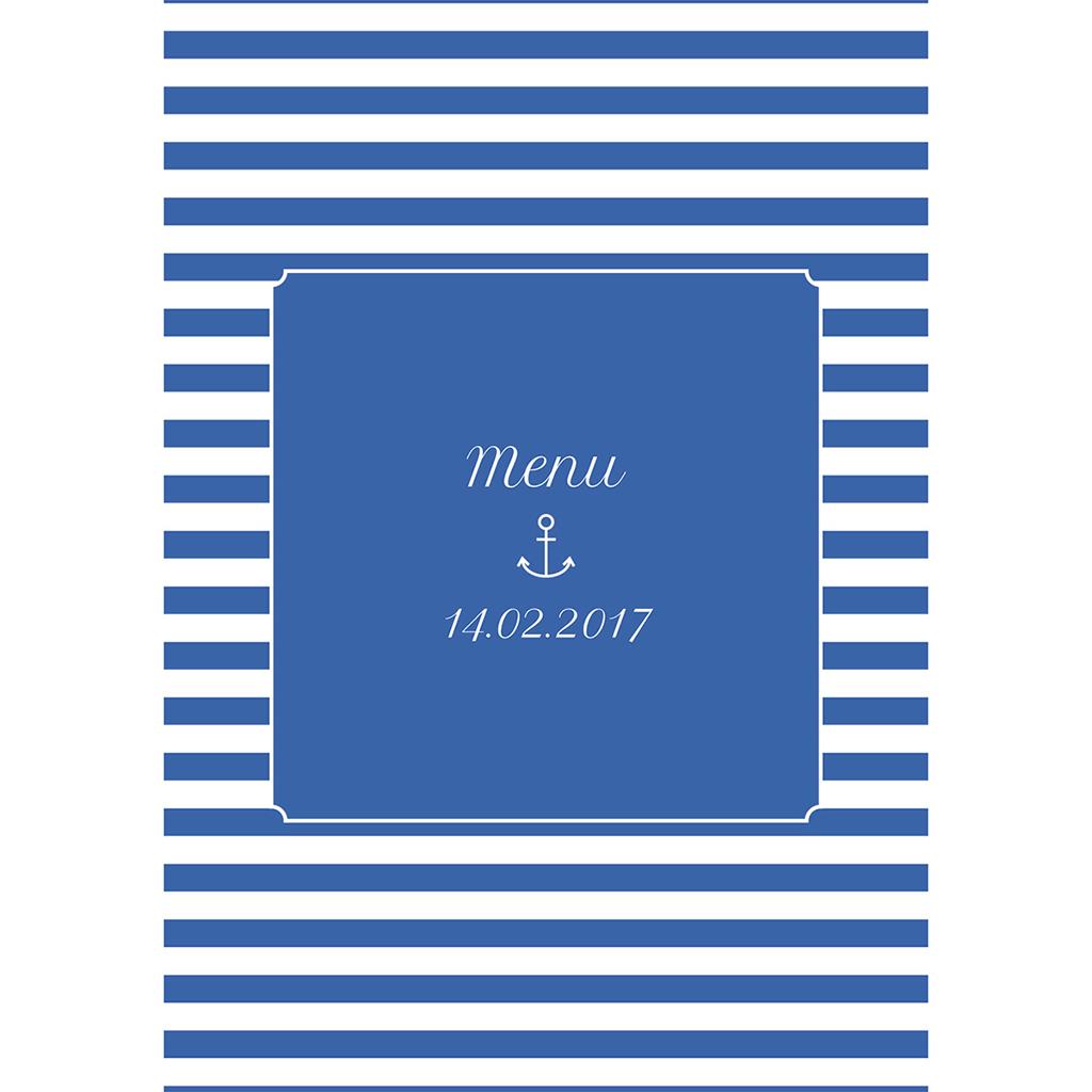 Menu mariage Navy chic  pas cher