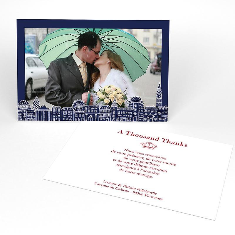 Carte de remerciement mariage Londres
