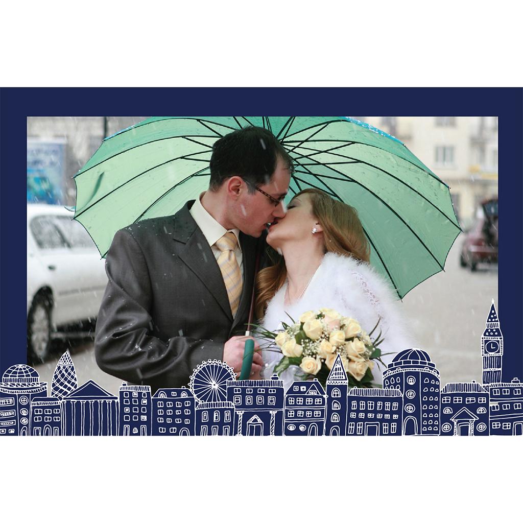 Carte de remerciement mariage Londres  pas cher