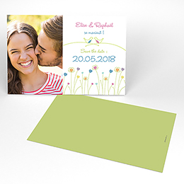 Save-the-date mariage Idylle blanc
